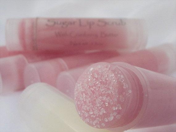 Sugar Lip Scrub Cranberry butter and sugar scrub exfoliator for lips