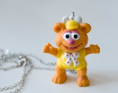 Fozzy Bear Necklace Vintage Muppets Baby 1986