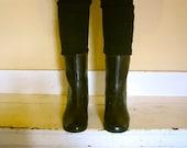 Faux Victorian Rain booties, 7, 37.