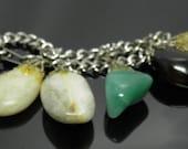 Vintage Semi Precious Healing Stones Bracelet