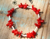 Beachy Coral Holiday Bracelet