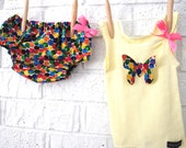Butterfly Diaper Cover and Tank Set