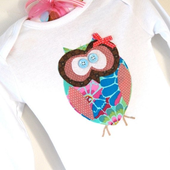Personalized Owl Outfit - Baby girl