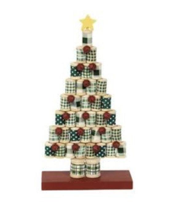 wooden spool christmas tree christmas craft kit