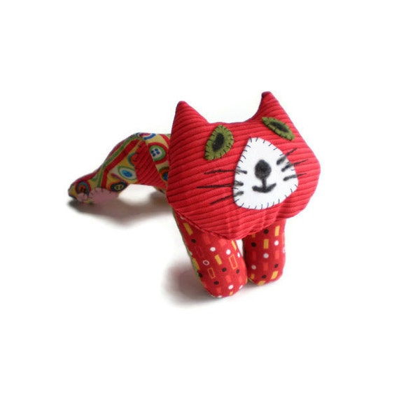 Kitten Softie Cat Doll Pin Cushion Red Yellow Black Kit Kitten