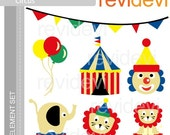 E028 Bright Circus - Element Set - Cute graphics for Commercial Use and Personal Use