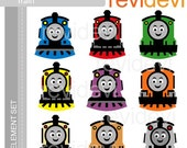 E062 Happy Train - Element Set - Cute graphics for Commercial Use and Personal Use