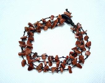 handmade bracelet anklet 106 vintage beach brown
