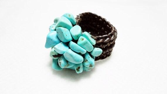 handmade ring 05 turquoise vintage gem unique jewelry