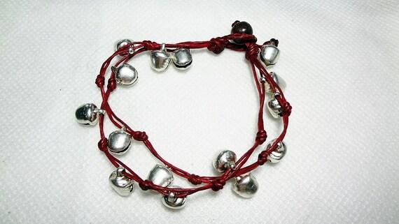 handmade bracelet anklet 170 vintage silver bell boho gypsy