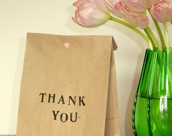 "Pack of Five ""Thank You"" Gift Bags"