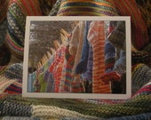 Handknit Socks on the Line Notecard