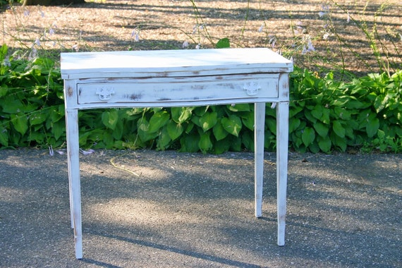 Desk/Table white Distressed Finish