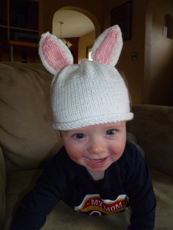 Items similar to Baby Francines Bunny Hat Pattern (knit) on Etsy