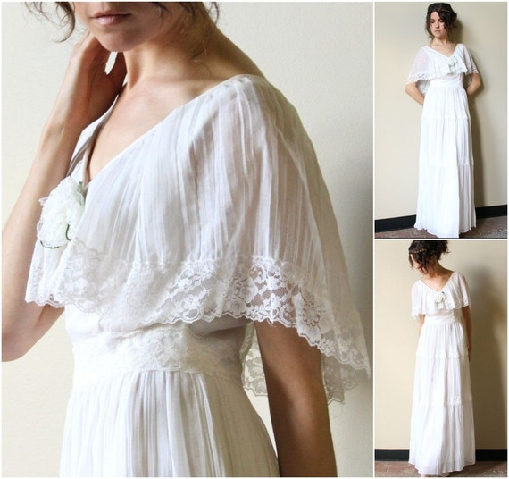 White Cotton Hippie Wedding Dresses RESERVE s Hippie Wedding