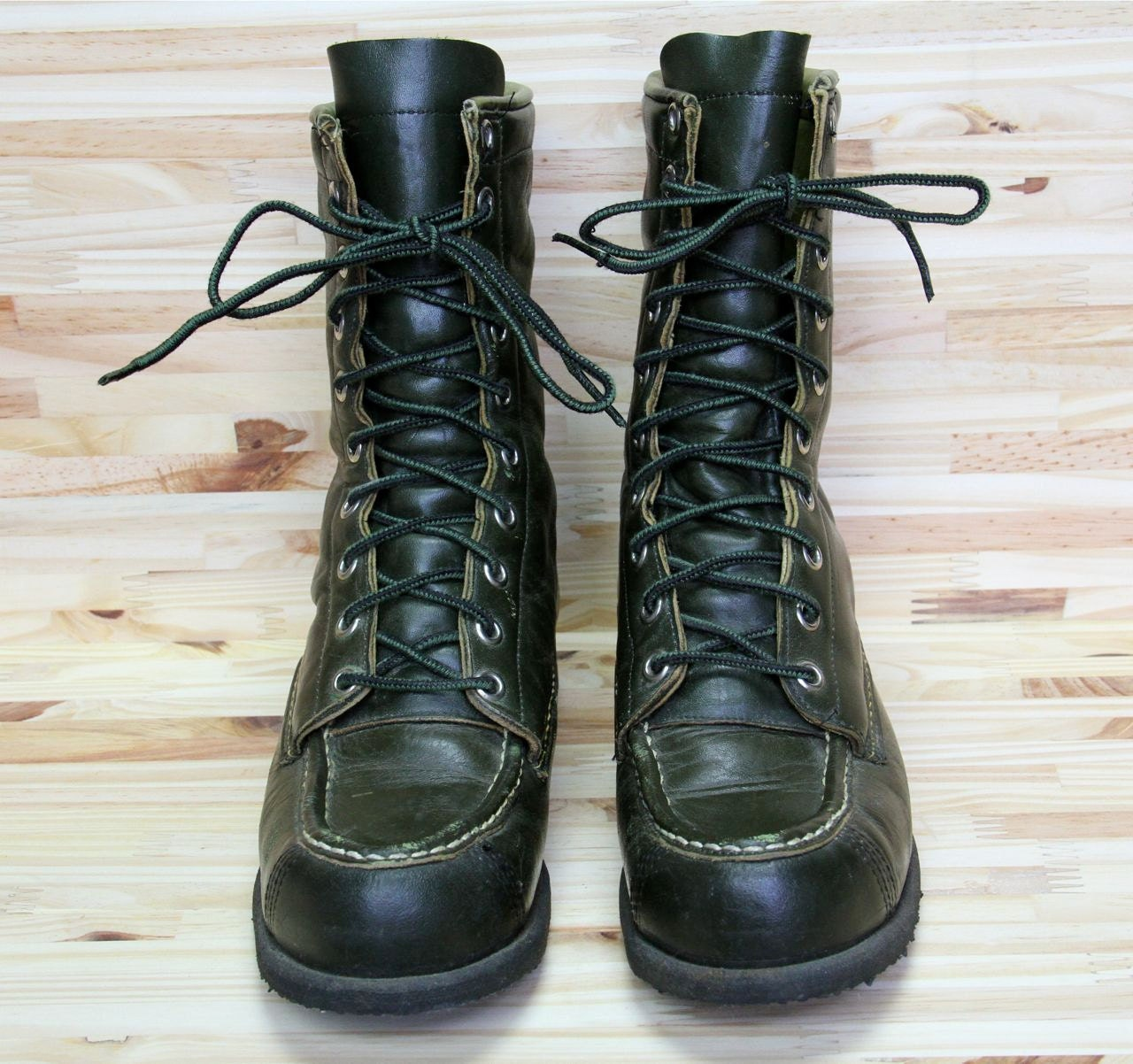 60s work boots vintage browning sportsman green