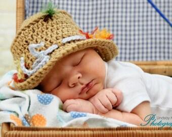 Fishing Hat Crochet - Custom Order