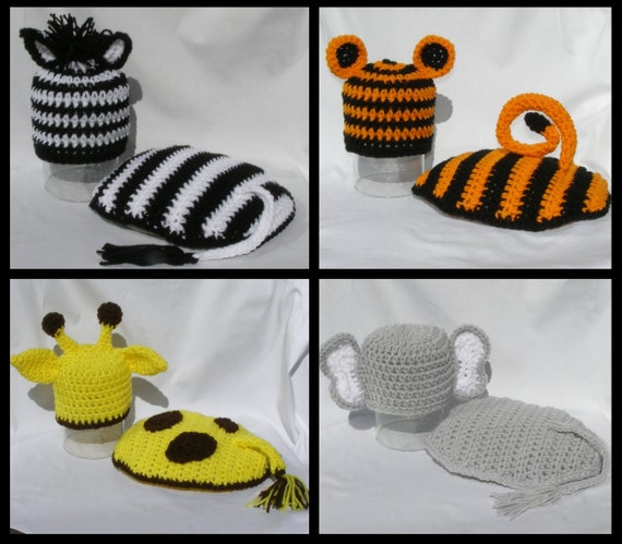 Crochet PATTERN for Zoo Cape & Hat Sets