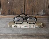 Vintage Brown Tortoise Hexagon Shaped Eyeglasses