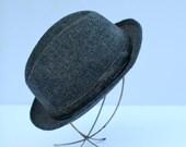 Grey fedora hat size 71/2