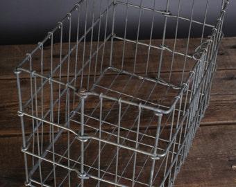 Vintage wire organizer basket