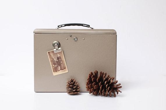 Industrial brown metal file/storage box