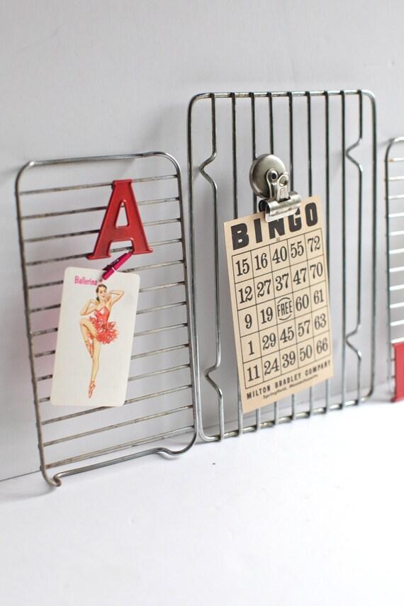 Small Wire cooling racks, repurposed memo boards