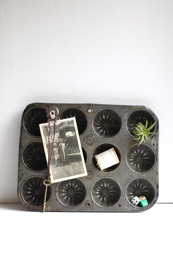Large muffin tin / Industrial Organizer