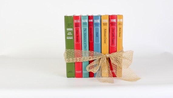 Vintage children's classic books, set of eight, book set