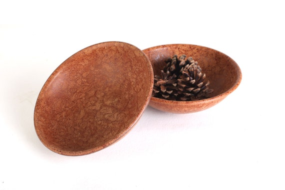 Faux wood bowls, set of two, Boltalite