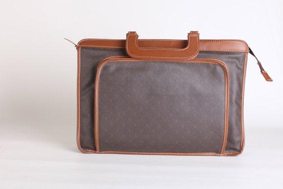 Brown faux leather attache case