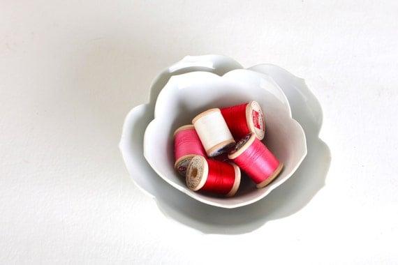 Vintage Lotus Bowls, Set of Two