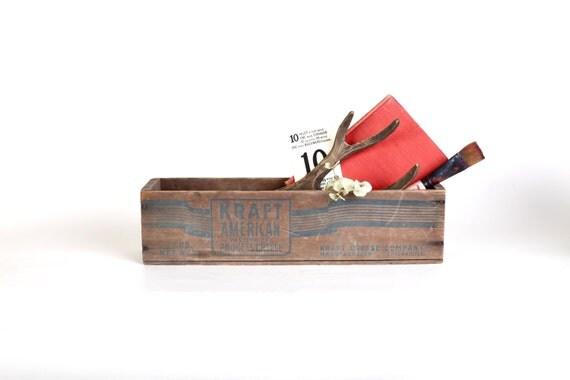 Wooden Kraft cheese box