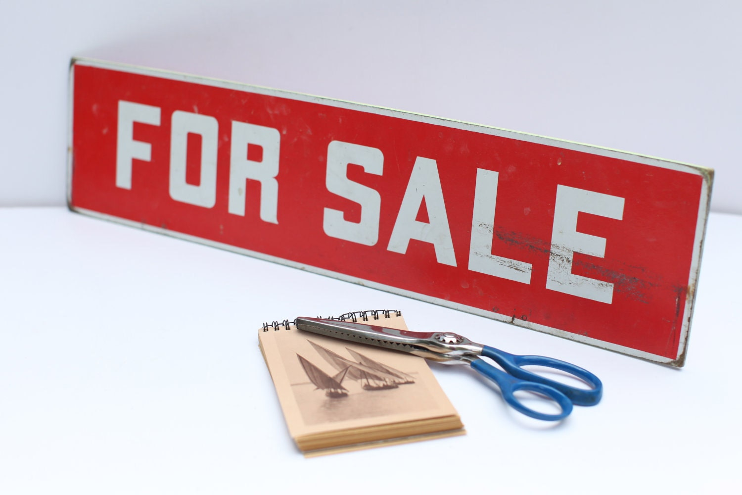vintage red for sale sign by thisvintagething on etsy