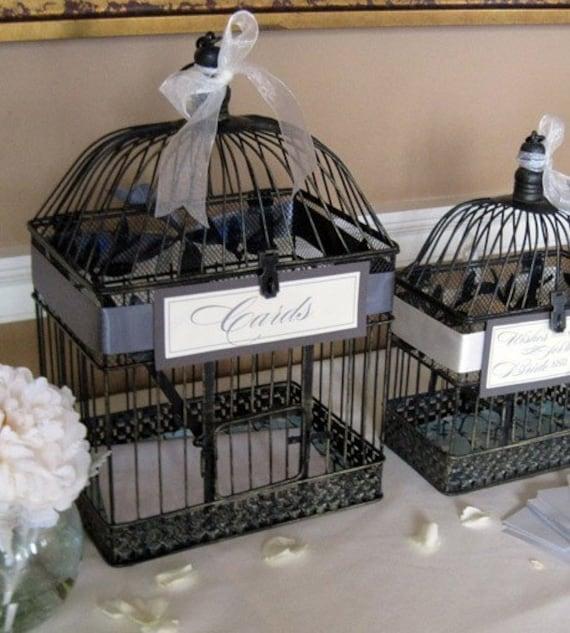 2 Antique Vintage Bird Cages WEDDING DECOR