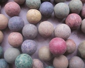 5 Antique Clay Marbles