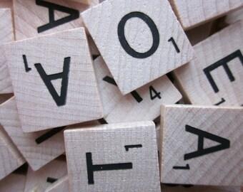 5 Vintage Scrabble Letter Tiles