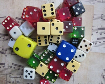 3 Vintage Mixed Dice