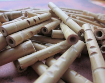 12 Vintage Bamboo Beads