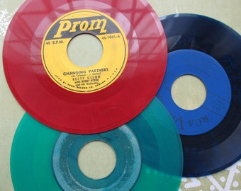 Vintage 45 RPM Vinyl Records