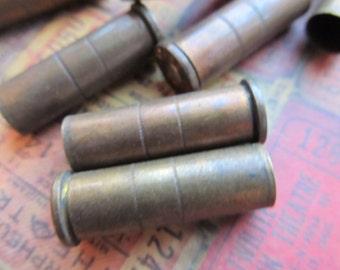 5 Vintage Brass Bullet Shell Casing