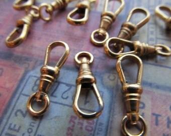 1 Vintage Brass Swivel Clip