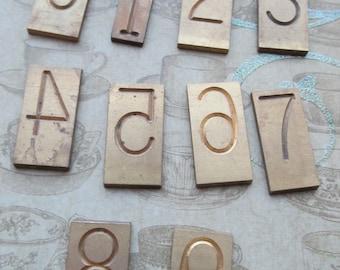 Vintage Brass Number Plates