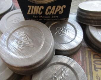 1 Vintage Zinc Mason Jar Lid
