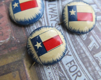 1 Vintage Texas Flag Pin