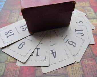5 Antique Flinch Game Cards