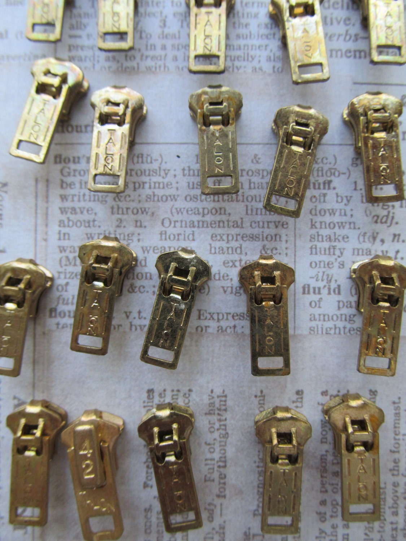 Vintage Brass Zipper Pulls