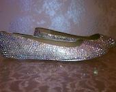 """AB """"Rainbow-like"""" Crystal Sparkle Ballet Flats"""