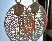 Copper leaf Summer earrings