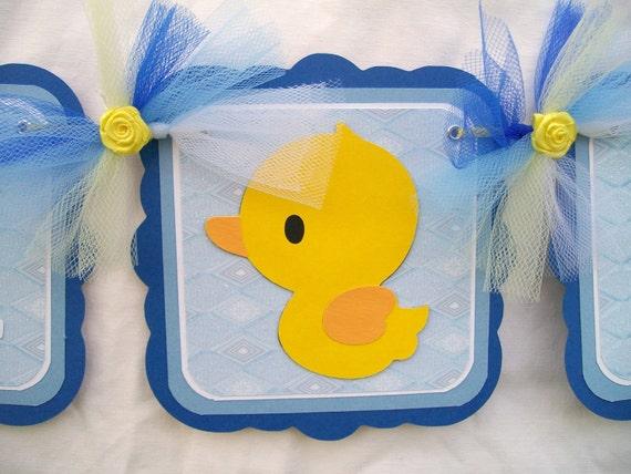 Rubber Duck Baby Shower Ideas Rubber Duck Baby Shower Banner